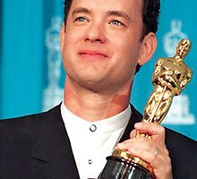 Tom Hanks with his Oscar by Davidfakner15