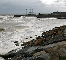 Storm in Courtown Harbour, Eire by Patricia Wuelfing