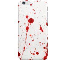 Blood Spatter 11 iPhone Case/Skin