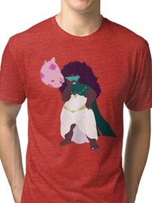 Psychic Anika Neem and her Pokemon Munna Tri-blend T-Shirt