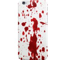 Blood Spatter 12 iPhone Case/Skin