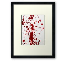 Blood Spatter 12 Framed Print