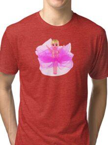 Hot Pink Kewpie Tri-blend T-Shirt