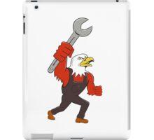 American Bald Eagle Mechanic Spanner Cartoon iPad Case/Skin