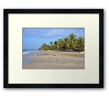 Caribbean beach in Costa Rica Framed Print