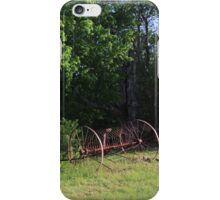Paddock with Farming equipment iPhone Case/Skin