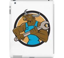 Mechanic Minotaur Bull Spanner Circle Cartoon iPad Case/Skin