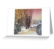 Bigger house Spout Hall Greeting Card