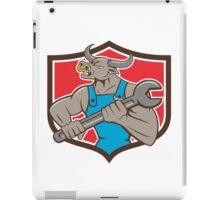 Mechanic Minotaur Bull Spanner Shield Cartoon iPad Case/Skin