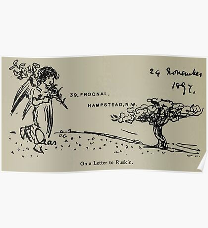 Kate Greenaway Collection 1905 0444 On a Letter to Ruskin Poster