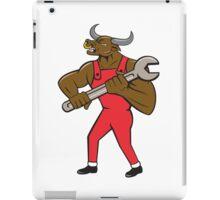 Mechanic Minotaur Bull Spanner Isolated Cartoon iPad Case/Skin