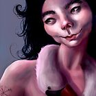Bjork Caricature by Larissa Neto