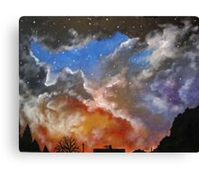 Northern night sky Canvas Print