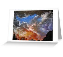 Northern night sky Greeting Card