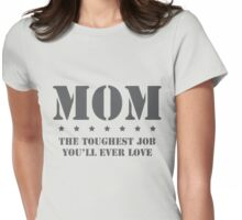 MOM - Toughest Job You'll Ever Love Womens Fitted T-Shirt
