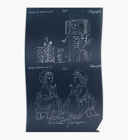 Briggs & Company Patent Transferring Papers Kate Greenaway 1886 0234 Inverted Poster