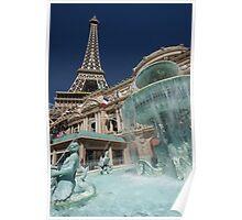 Fountain - Paris Hotel & Casino,Las Vegas Poster