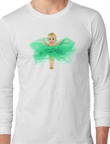 Emerald Green Kewpie Long Sleeve T-Shirt
