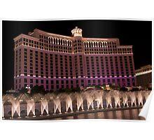 Sprinkler system, Bellagio Casino, Las Vegas Poster
