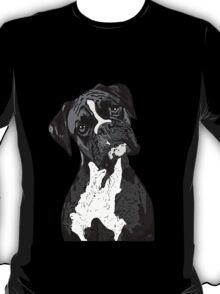 Black and White Boxer Art T-Shirt