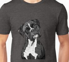 Black and White Boxer Art Unisex T-Shirt