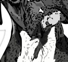 Black and White Boxer Art Sticker