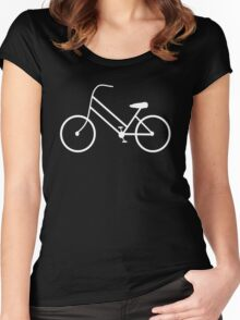 Women's Bicycle in White Women's Fitted Scoop T-Shirt