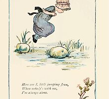 Mother Goose or the Old Nursery Rhymes by Kate Greenaway 1881 0040 Here I am Little Jumping Joan by wetdryvac