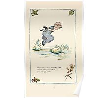 Mother Goose or the Old Nursery Rhymes by Kate Greenaway 1881 0040 Here I am Little Jumping Joan Poster