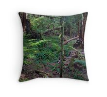 Lush Forest in Pacific Northwest Throw Pillow