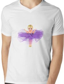 Purple Kewpie Mens V-Neck T-Shirt