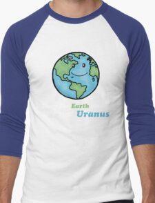 Keep the Earth clean, it's not Uranus Men's Baseball ¾ T-Shirt