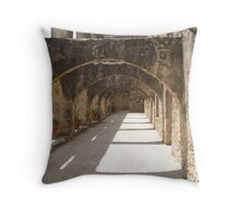 Walkway of Convento Throw Pillow