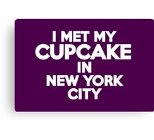 I met my cupcake in New York City Canvas Print