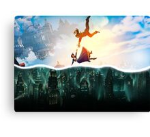 Bioshock Two Worlds Collide Canvas Print