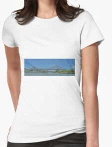 Storey Bridge, Brisbane, Qld, Australia (Panorama) Womens Fitted T-Shirt