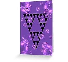Purple Bubblangle Greeting Card