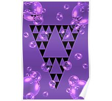 Purple Bubblangle Poster