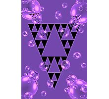Purple Bubblangle Photographic Print