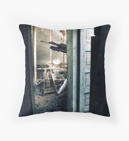 28.4.2010: Welcome to Deathtrap Throw Pillow