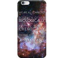 We Are All Connected - NdGT Quote iPhone Case/Skin