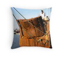 Rusty rear Throw Pillow