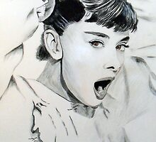 Audrey Hepburn (in Roman Holiday) by Antonio  Luppino