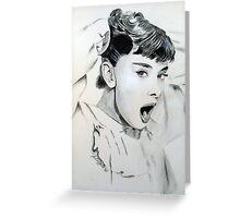 Audrey Hepburn (in Roman Holiday) Greeting Card