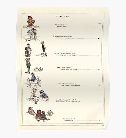 Under the Window Pictures and Rhymes for Children Edmund Evans and Kate Greenaway 1878 0016 Contents Poster