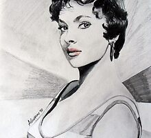Gina Lollobrigida by Antonio  Luppino