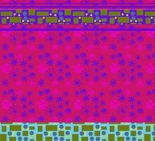 Modern Pink Floral Pattern by Melissa Park