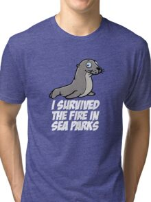 I survived the fire in Sea Parks Tri-blend T-Shirt