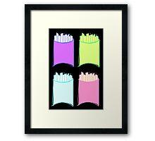 Neon French Friessss Framed Print