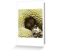 Black Christmas Tree Worm Greeting Card